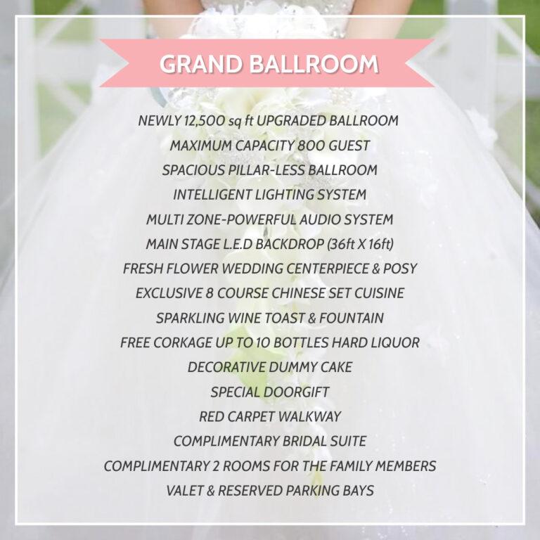Chinese Wedding (Grand Ballroom)